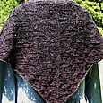 Black Ice Square Shawl (back view)