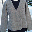 Wrap front cardigan