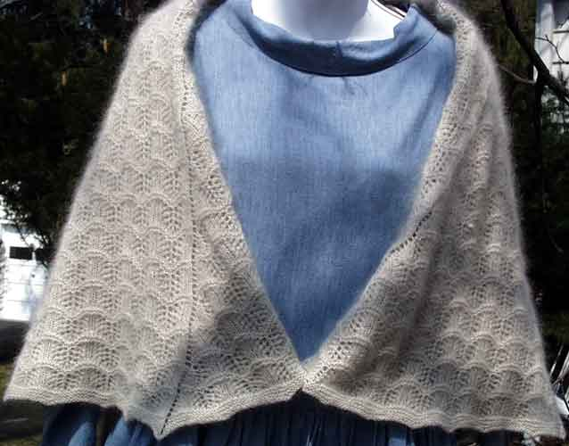 Circular Keesmere shawl (front view)