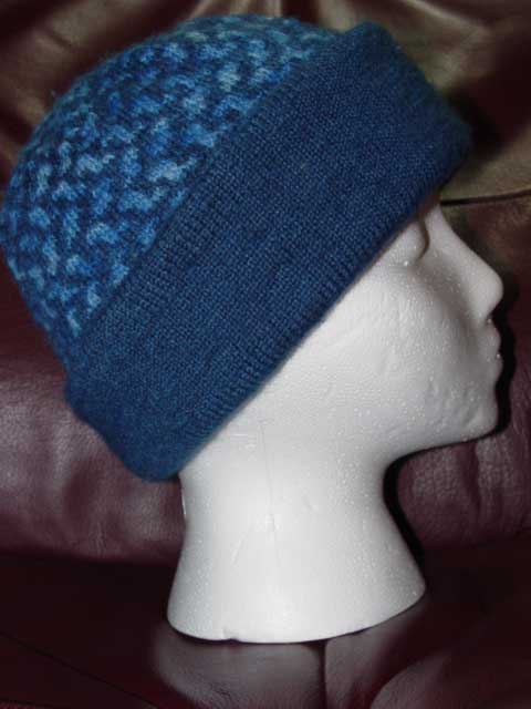 Simple blue hat