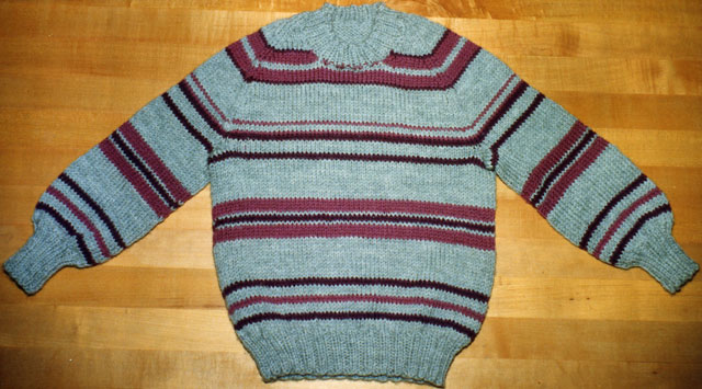 Child striped raglan