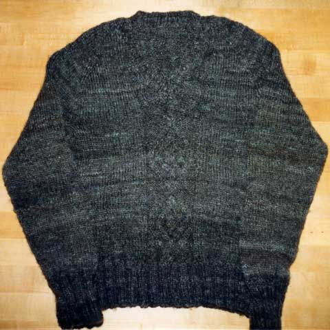 Corriedale cabled pullover