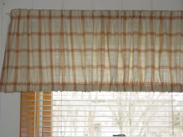 Plaid curtain (close-up)