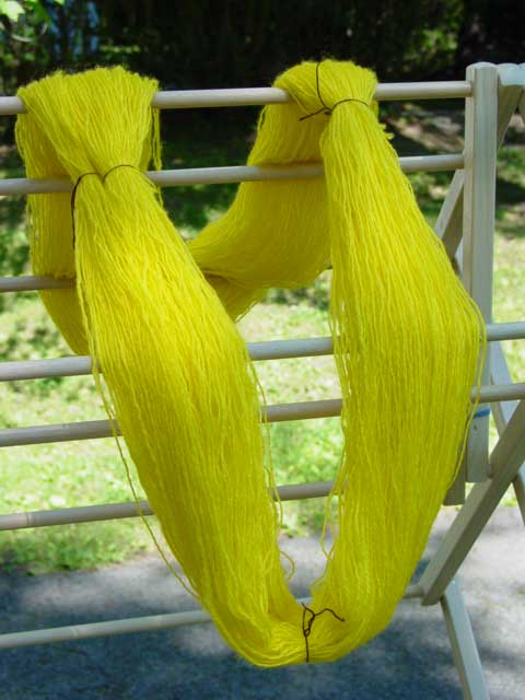 Yellow skein